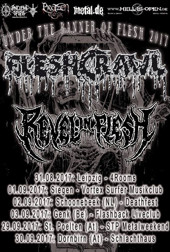 Under The Banner OF Flesh 2017, Fleshcrawl, Revel in Flesh :: Supported by Hell-is-open.de :: klicken für mehr Info...