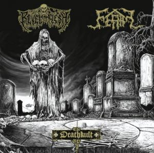 Review: Revel in Flesh - Spilt EP's mit Puteraeon, Grave Wax, Feral :: Genre: Death Metal