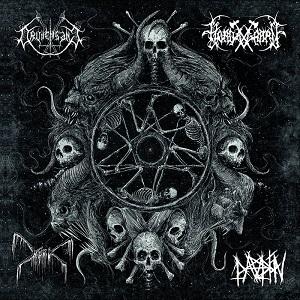 Review: Hordagaard / Dauden / Mork / Drudensang - Split :: Genre: Black Metal