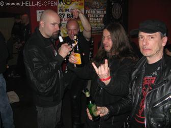 Aftershow Party in der Rockkneipe Florinsmarkt Hell-is-open.de mit Paul Baayens und Bob Bagchus von ASPHYX