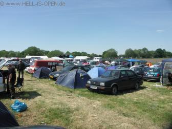 Camping, Sicht Richtung Bühne