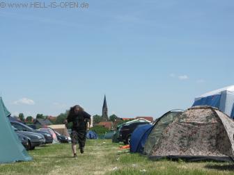 Camping, Blick nach rechts