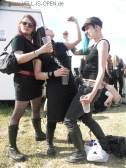 Drei Mädels aus Finnland beim posen