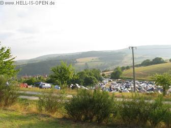 Eisenwahn Festival, Blick vom oberen Campingplatz