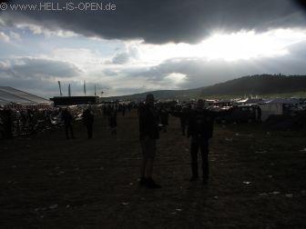 Himmel über dem Campingplatz