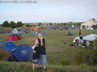 Blick auf den Campingplatz um 17:00 Uhr