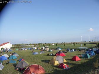 Blick über den Campingplatz um 18:28 Uhr