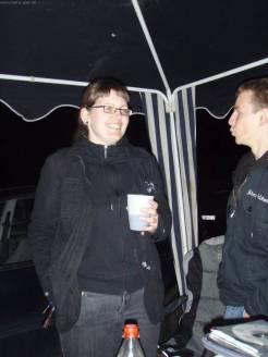 Erste Party am Donnerstag im HIO Camp, Elmex + Runes