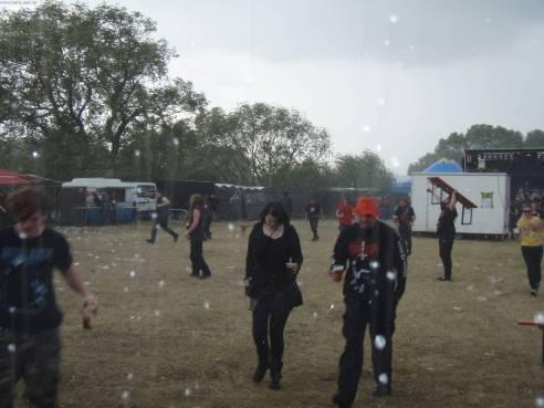 Flucht vor dem Regen
