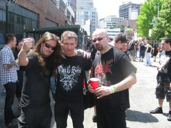 Pit mit Paul (Hail of Bullets/Asphyx) und Bob von (Hail of Bullets)
