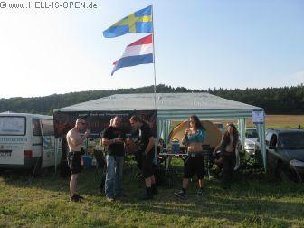 Mittwoch 18:21 der Campground ist eingerichtet