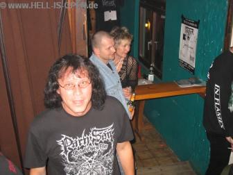 Hölli, Olli und Gaby unser nettes Girl am Shirtstand