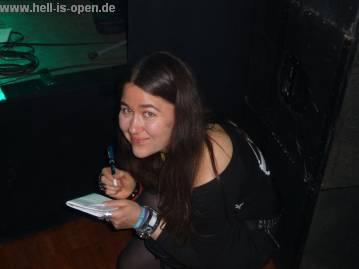 Arlette Huguenin von Vampster bei der Arbeit