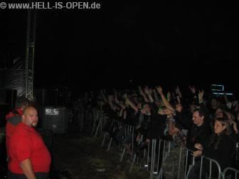 Fans bei den deutschen Death Metallern HACKNEYED