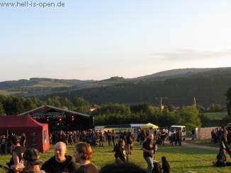 Blick auf die Bühne und die geile Umgebung