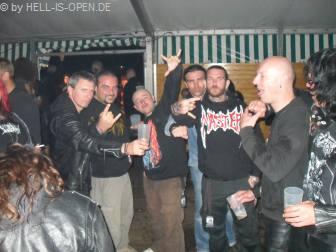 Aftershowparty am Donnerstag auf Freitag mit den Jungs von Beheaded