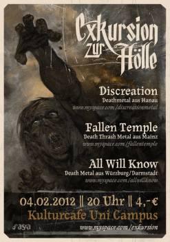 Flyer: Exkursion zur Hölle, Kulturcafe, Mainz