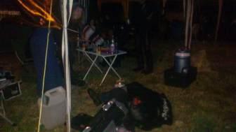Freitag Nacht, 2:40 Uhr, 3°C Party am HIO Camp, Absturz...