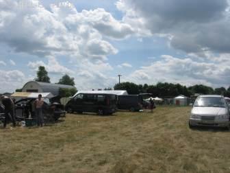 Campingplatz am Samstag Mittag