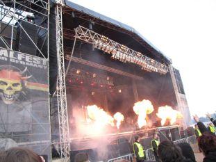 Feuershow bei Behemoth