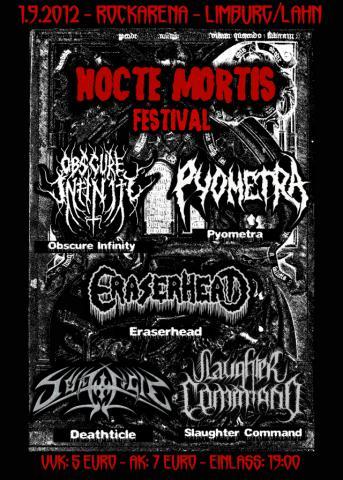 Flyer zum Nocte Mortis Festival