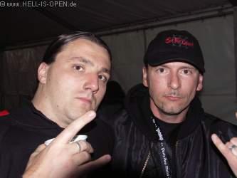 Backstage Stefan Fiori von GRAVEWORM (Sänger), Pit aka UnDerTaker