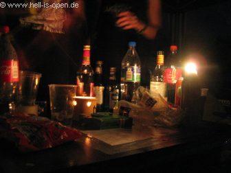 Freitag Nacht 01:12 Uhr Die entsprechende Tischdeko...