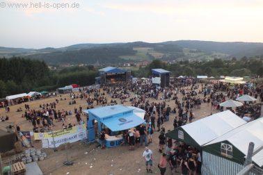 Das Festivalgelände am Samstag Abend
