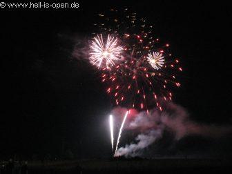 Abschluißfeuerwerk Nach 10 mal Eisenwahn war diese das letzte Eisenwahn-Festival in Obersinn