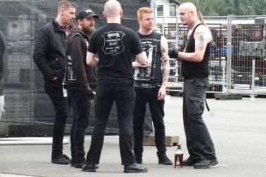 """Niklas """"Kvarforth"""" Olsson von Shining Backstage vor dem Gig"""