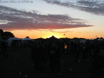 Sonnenuntergang beim Protzen Open Air