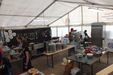 Backstage: Küche für die Crew