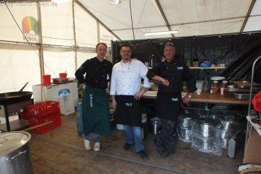 Backstage: Die Köche für die Crew