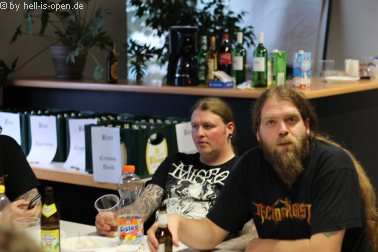 Lay Down Rotten Backstage
