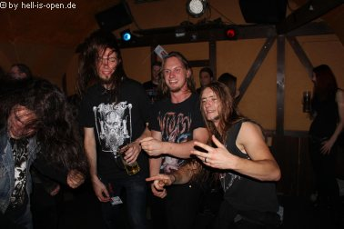 Aftershowparty: Bands feiern