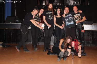 English / Swedish Crew and HIO members after the gig