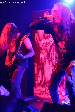 Revel in Flesh mit old school Death Metal aus dem Schwabenland sind der Headliner des Abends
