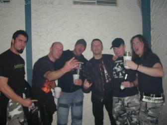 Metalparty HIO mit den beiden Gitarristen von God Dethroned