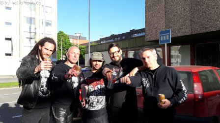 HIO and musicians of Misery Index, Nerlich and Torture Killer