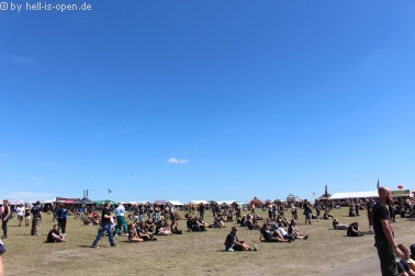 Festivalgelände am Samstag