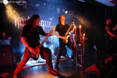 Horresque mit Death / Black Metal bei ihrem Debüt-Gig