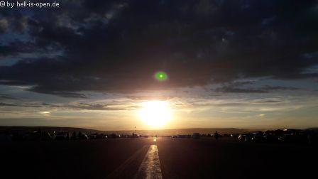 Sonnenuntergang am Mittwoch in Schlotheim
