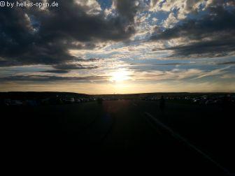 Sonnenuntergang am Mittwoch