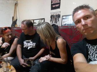 Aftershow im Rockclub Tartaros in Banská Bystrica, Slowakei