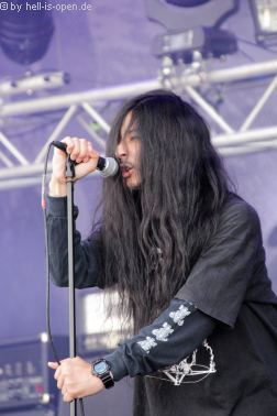 Coffins aus Japan mit Death/Doom Metal beim Party.San 2018 Freitag