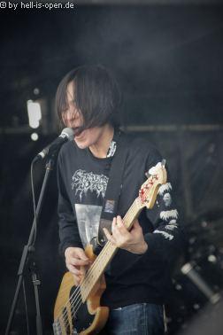 Coffins aus Japan mit Death/Doom Metal beim Party.San 2018 Freitag