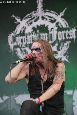 CARPATHIAN FOREST aus Norwegen mit Black Metal  beim Party.San 2018 Samstag