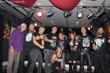Die Aftershowparty mit Crew und Fans  gegen 4:30 Uhr beim  Path of Death 7 in Mainz
