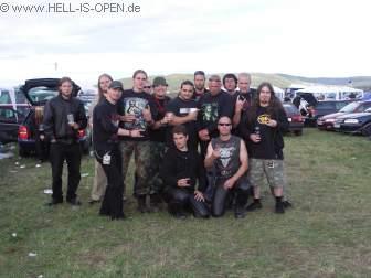 Sänger Maurizio Iacono und Gitarrist Jean-Francois Dagenais von KATAKLYSM am Hell-is-Open Pavillon
