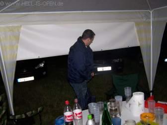 Freitag Nacht am Campingplatz